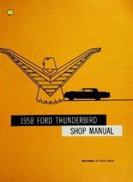 DEMO - 1958 Ford Thunderbird Shop Manual - ForelPublishing.com