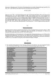7-28 Satzung Frist Dichtheitsprüfung Bezirk IXx - Warendorf
