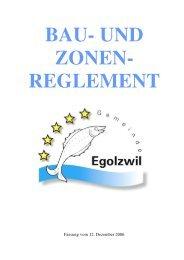 Bau- und Zonenreglement Egolzwil - Gemeinde Egolzwil