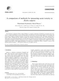 A comparison of methods for measuring acute toxicity to Hydra ...