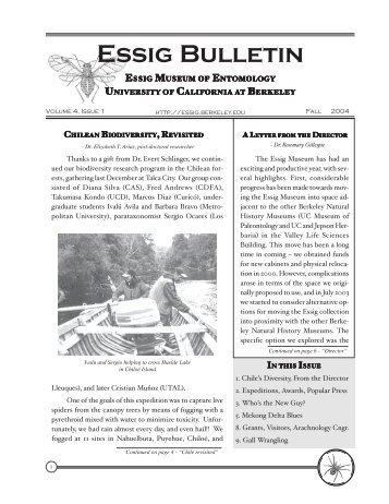 Essig Bulletin - Essig Museum of Entomology - University of ...