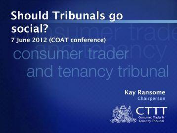 Should Tribunals go social?