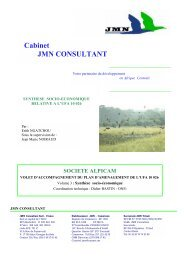 Cabinet JMN CONSULTANT - Impact monitoring of Forest ...