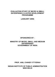 Evaluation Study MSE Cluster Development - Ministry of Micro ...