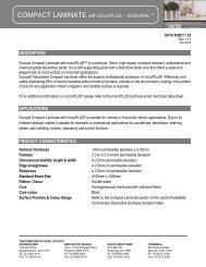 Duropal Compact HPL - Tekform