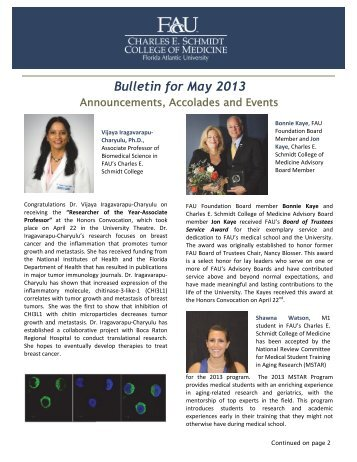 Bulletin for May 2013 - FAU