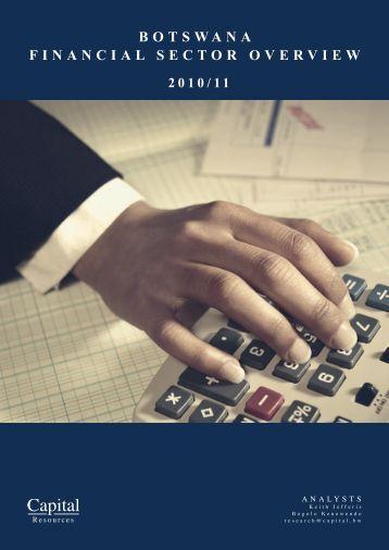botswana financial sector overview - Econsult Botswana