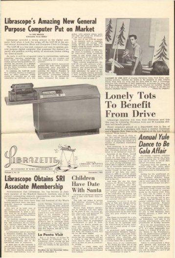 November, 1955 Librazette - Librascope Memories