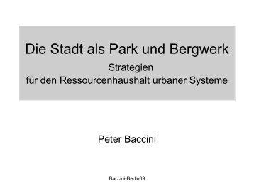 Die Stadt als Park und Bergwerk - TU Berlin