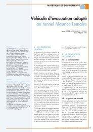 Véhicule d'évacuation adapté au tunnel Maurice Lemaire - AFTES
