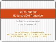 Mutations de la société française - Histoire géographie Dijon