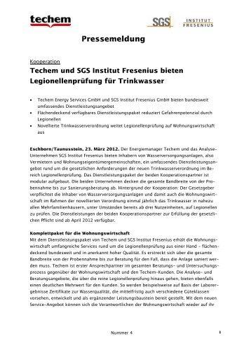 Techem und SGS Institut Fresenius bieten ... - VDIV-Partner