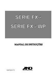 SÉRIE FX-i SÉRIE FX-i WP MANUAL DE INSTRUÇÕES
