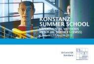 Konstanz Summer School: Experimental Methods in Social Sciences