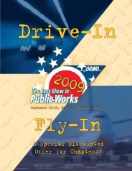 A Special Discounted Offer for Chapters! - American Public Works ...