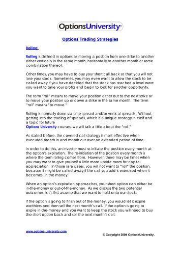 Options stock repair strategy