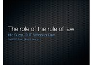 The role of the rule of law
