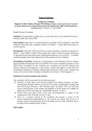 1 Terms of reference Technical Consultant Support for the Technical ...