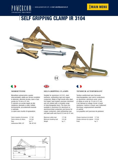 self gripping clamp ir 3104 - powercom.ch