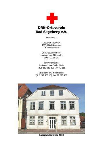 HEFT SOMMER 2008 - DRK Ortsverein Bad Segeberg