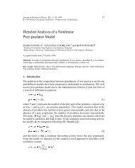 Detailed Analysis of a Nonlinear Prey-predator Model