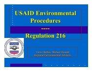 Regulation 216 - USAID: Africa Bureau: Office of Sustainable ...