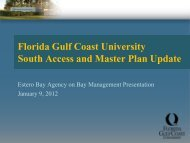 FGCU South Access and Master Plan Update