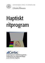 Haptiskt ritprogram - Certec - Lunds Tekniska Högskola
