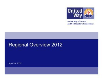 Regional Overview 2012 - United Way of Central and Northeastern ...