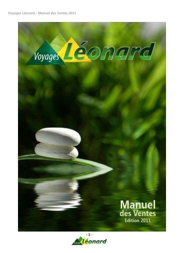 Voyages Léonard – Manuel des Ventes 2011 - 1 -
