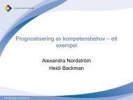 Prognostisering av kompetensbehov - ett exempel, Heidi ... - Edu.fi