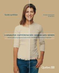 l'analyse différenciée selon les sexes - Secrétariat à la condition ...