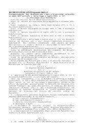 DECRETO LEGISLATIVO 8 gennaio 2004, n.3 - Dipartimento di ...