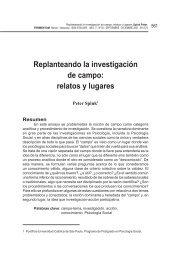 Replanteando la investigación de campo: relatos y lugares - SciELO