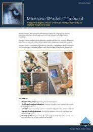 Milestone XProtect™ Transact - Mayflex