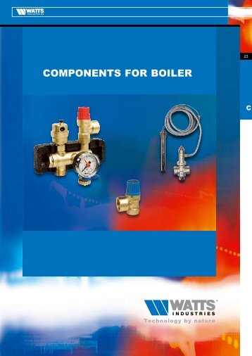 COMPONENTS FOR BOILER - Watts Industries