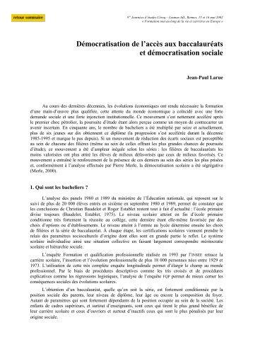 Jean-Paul Larue - Cereq