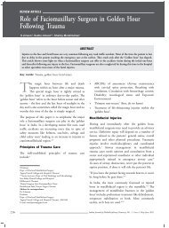 Role of Faciomaxillary Surgeon in Golden Hour Following ... - IJMD