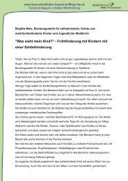 130 KB, Format: PDF - Besondere Kinder - besondere Wege