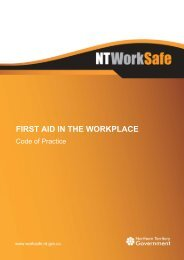 Code of Practice – First Aid in the Workplace - NT WorkSafe