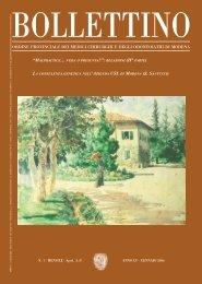 Gennaio 2006 (pdf - 944 KB) - Ordine Provinciale dei Medici ...