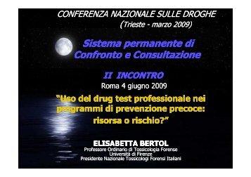 Elisabetta BERTOL - 5a Conferenza nazionale sulle droghe