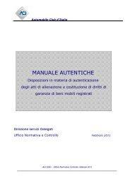 MANUALE AUTENTICHE - Network Uffici Provinciali ACI