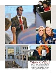 THANK YOU! - Marymount University