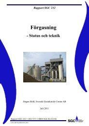 Förgasning – status och teknik - SGC