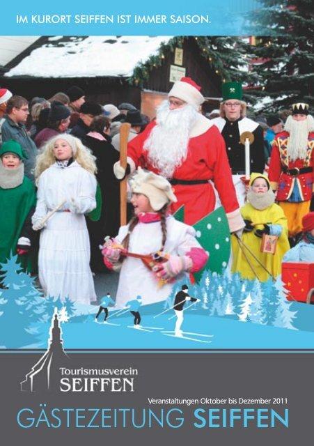 Großer Laternenzug Zum Weihnachtsmann Seiffen
