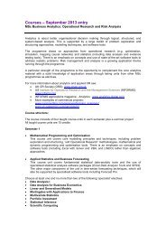 Courses – September 2013 entry