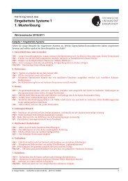 Eingebettete Systeme 1 1. Musterlösung