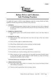 Refuse Driver and Collectors Safe Working Practices - Torbay Council