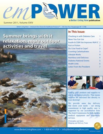Summer, 2011 - Better Living Now Health Education Guide